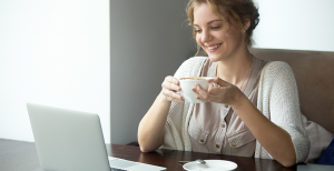 Image: Woman with Coffee